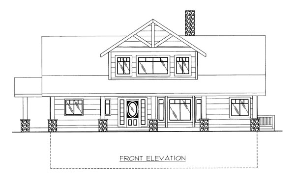 Cabin House Plan 86643 Elevation