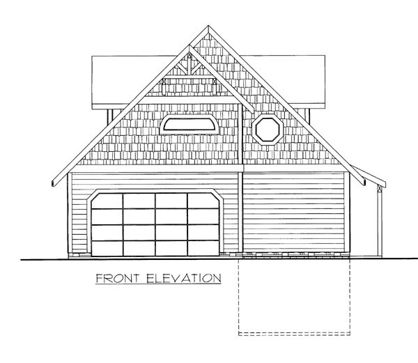 House Plan 86644 Elevation