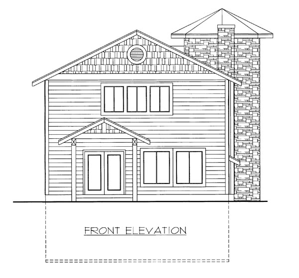 House Plan 86645 Elevation