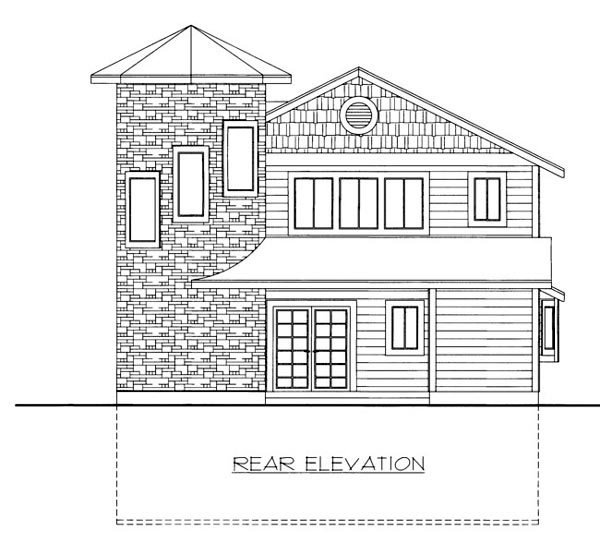 House Plan 86645 Rear Elevation