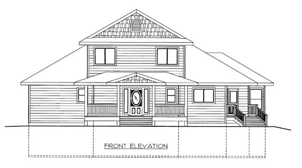 Elevation of Plan 86646