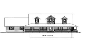 House Plan 86647 Elevation