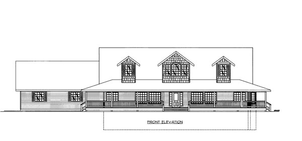 House Plan 86647 Elevation