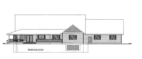 House Plan 86647 Rear Elevation