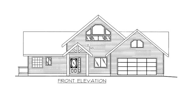 House Plan 86648 Elevation