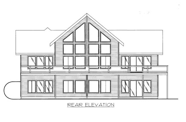 House Plan 86648 Rear Elevation