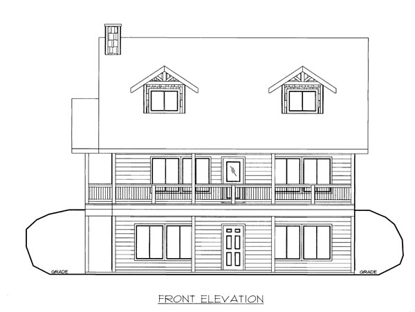 House Plan 86649 Elevation