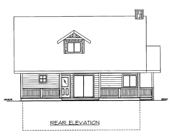 House Plan 86649 Rear Elevation