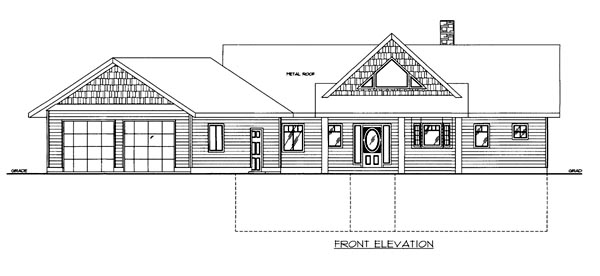 House Plan 86650 Elevation