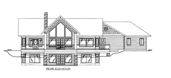House Plan 86650 Rear Elevation