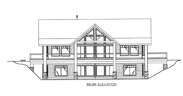 House Plan 86651 Rear Elevation