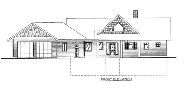 House Plan 86652 Elevation