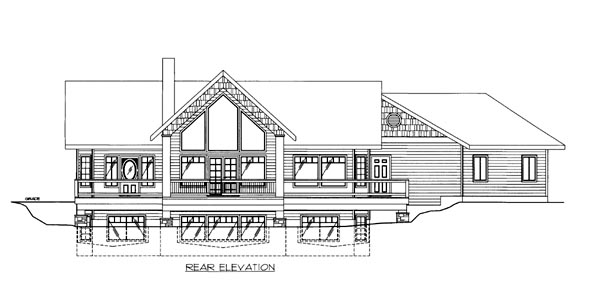 House Plan 86652 Rear Elevation
