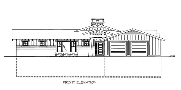 House Plan 86653 with 4 Beds, 4 Baths, 2 Car Garage Elevation