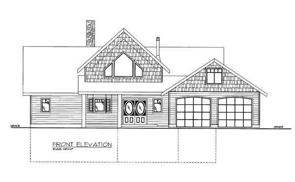 House Plan 86654 Elevation