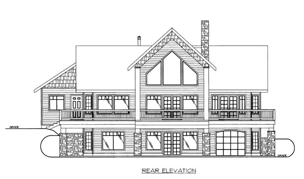 House Plan 86654 Rear Elevation