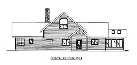 House Plan 86655 Elevation
