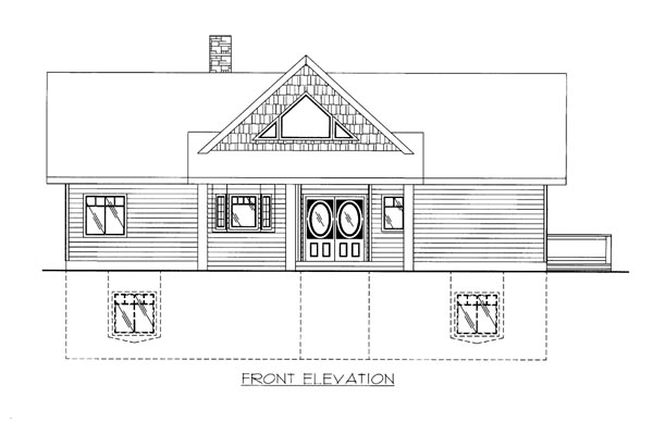 House Plan 86656 Elevation