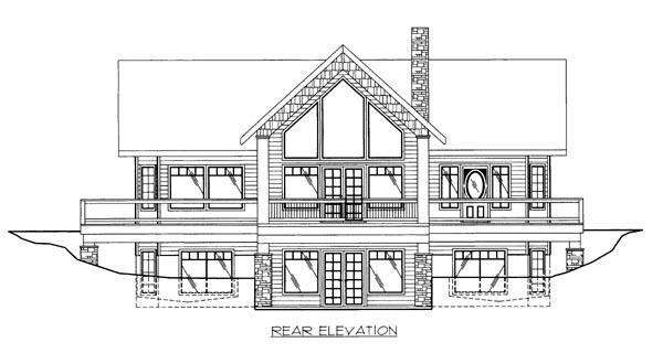 House Plan 86656 Rear Elevation