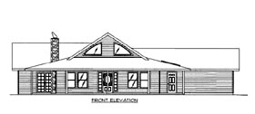 House Plan 86657 | Style Plan with 2128 Sq Ft, 2 Bedrooms, 3 Bathrooms, 2 Car Garage Elevation