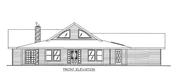 House Plan 86657 Elevation