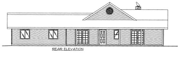 House Plan 86657 Rear Elevation
