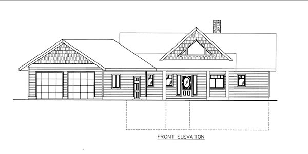 House Plan 86658 Elevation