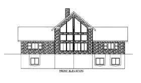 House Plan 86660 Elevation