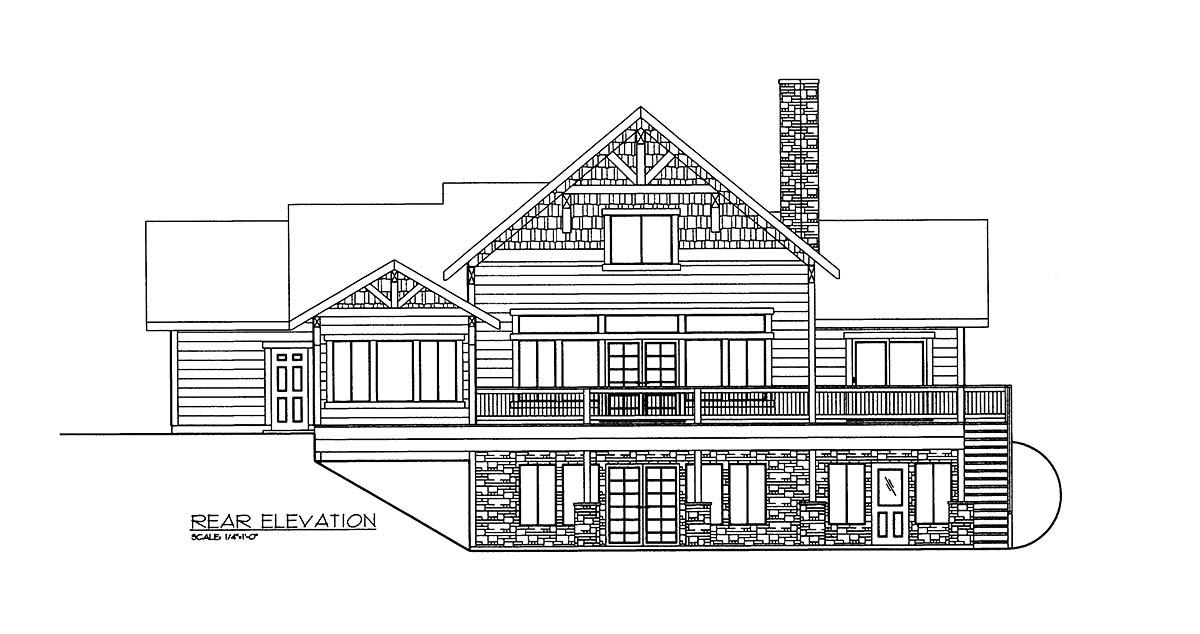 House Plan 86661 Rear Elevation