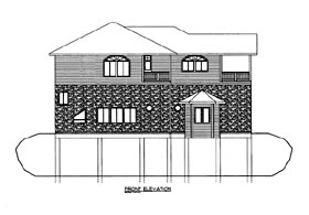 House Plan 86662 Elevation