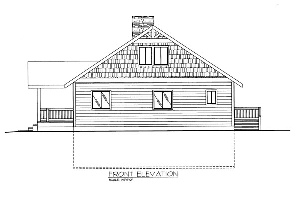 House Plan 86663 Elevation