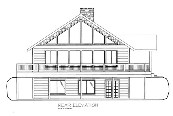 House Plan 86663 Rear Elevation