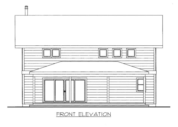 House Plan 86665 Elevation