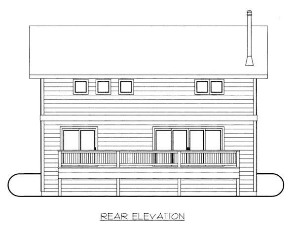 House Plan 86665 Rear Elevation