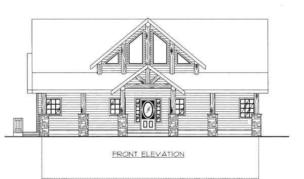 House Plan 86666 Elevation