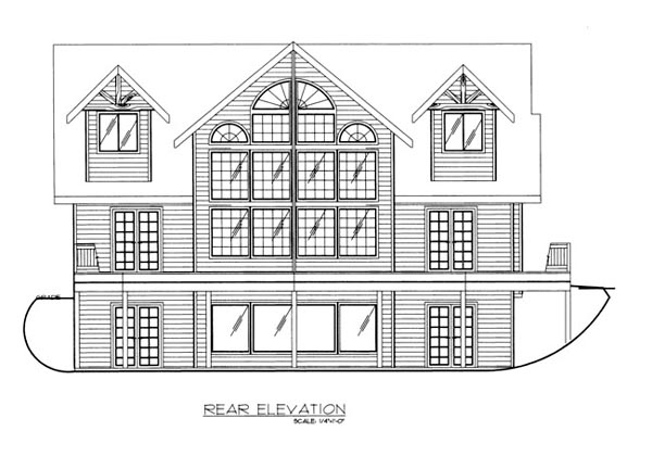 House Plan 86666 Rear Elevation