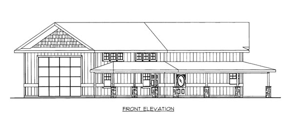 House Plan 86668 Elevation