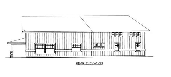 House Plan 86668 Rear Elevation