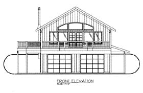 House Plan 86669 | Style Plan with 1965 Sq Ft, 2 Bedrooms, 3 Bathrooms, 2 Car Garage Elevation