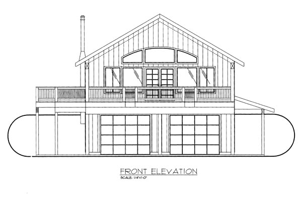 House Plan 86669 Elevation