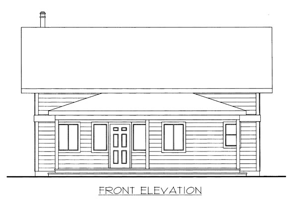 House Plan 86671 with 2 Beds, 2 Baths Elevation