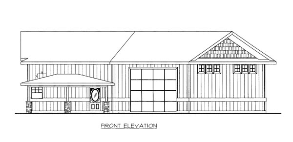 House Plan 86672 with 1 Beds, 1 Baths, 2 Car Garage Front Elevation