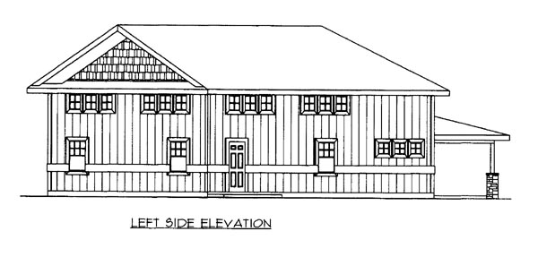 House Plan 86672 with 1 Beds, 1 Baths, 2 Car Garage Picture 1
