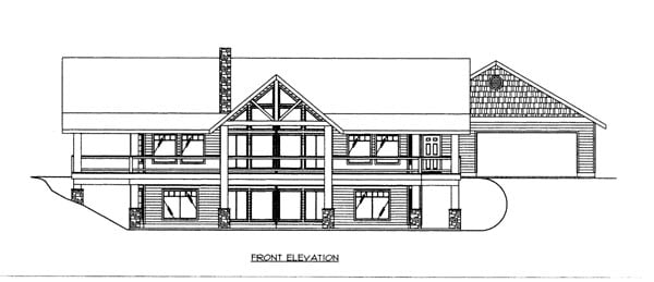 Elevation of Plan 86673