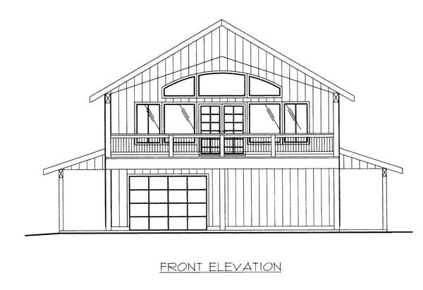 House Plan 86674 Elevation