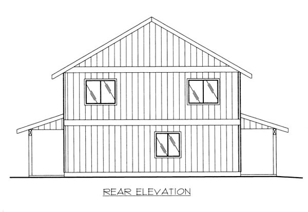 House Plan 86674 Rear Elevation