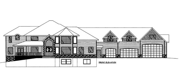 House Plan 86675 Elevation