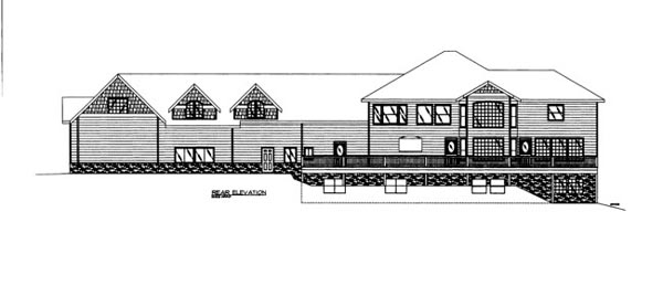 House Plan 86675 | Style Plan with 9815 Sq Ft, 7 Bedrooms, 7 Bathrooms, 5 Car Garage Rear Elevation