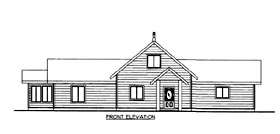House Plan 86676 | Style Plan with 2959 Sq Ft, 2 Bedrooms, 2 Bathrooms Elevation