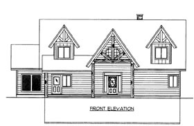 House Plan 86677 with 3 Beds, 4 Baths Elevation